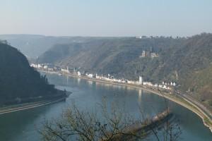 Burg Katz mit St. Goarshausen
